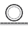 bicycle chain silhouettes