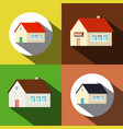 houses icons private buildings symbols set vector image