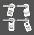 realistic 3d detailed do not disturb sign and door vector image