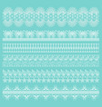set of white lace borders isolated vector image