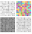 100 hotel services icons set variant vector image vector image