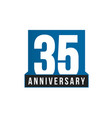 35th anniversary icon birthday logo vector image vector image