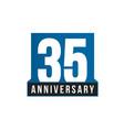 35th anniversary icon birthday logo vector image vector image