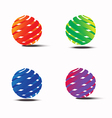 Abstract colorful circle logo template vector image