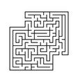 abstract square maze with entrance and exit vector image vector image