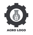 agro icon for your company logo black and white