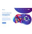 arms trafficking concept landing page vector image vector image