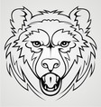 Bear Face Tribal vector image