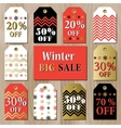 Big sale printable card template with golden red vector image vector image