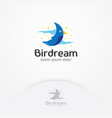 bird dream logo design vector image vector image