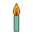 birthday candles isolated icon vector image vector image
