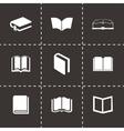 black schoolbook icons set vector image vector image