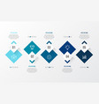 blue modern infographic with 3d table vector image vector image