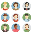 Boys and men faces icons in flat style vector image vector image