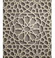 brown background islamic ornament vector image vector image