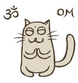 cartoon cat tik reached enlightenment vector image