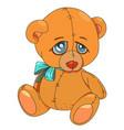 cartoon image of teddy bear vector image vector image