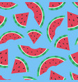 cartoon seamless pattern summer background vector image