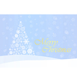 Christmas Background with Gold Tree vector image vector image