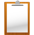 Clip board with paper blank vector image vector image