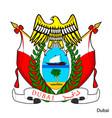 coat arms dubai is a united arab emirates vector image