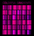colorful gradients set vector image