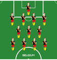 Computer game Belgium Football club player vector image vector image