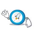 crazy stellar coin character cartoon vector image vector image