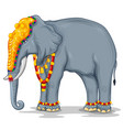 decorated indian elephant used in different vector image vector image