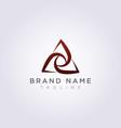 design abstract triangle logo icon vector image vector image