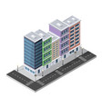district of the city street houses vector image