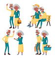 elderly couple set grandfather and vector image vector image