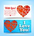 elegant amorous horizontal banners vector image vector image
