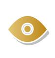 eye sign golden gradient vector image vector image