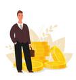 financial advisor businessman is standing near vector image