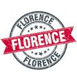 Florence red round grunge vintage ribbon stamp vector image vector image
