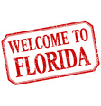 Florida - welcome red vintage isolated label vector image vector image