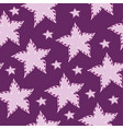 flowers pink stars on a purple background vector image