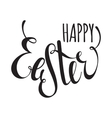 Happy Easter handwriting ink inscription vector image vector image