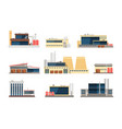 Industrial factory power plant and warehouse vector image