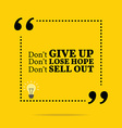 Inspirational motivational quote Dont give up Dont vector image vector image