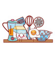 kitchenware and ingredients cartoon vector image