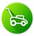 lawn mower circle icon design vector image