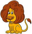 lion comic animal character cartoon vector image