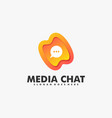 logo media chat gradient colorful style vector image
