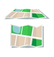 Map icon flat style vector image vector image