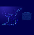 map trinidad and tobago from the contours network vector image vector image