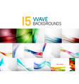 mega collection of blurred wave abstract vector image vector image