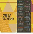 Modern Abstract 2017 Printable Calendar