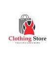 modern womens clothing shop logo vector image